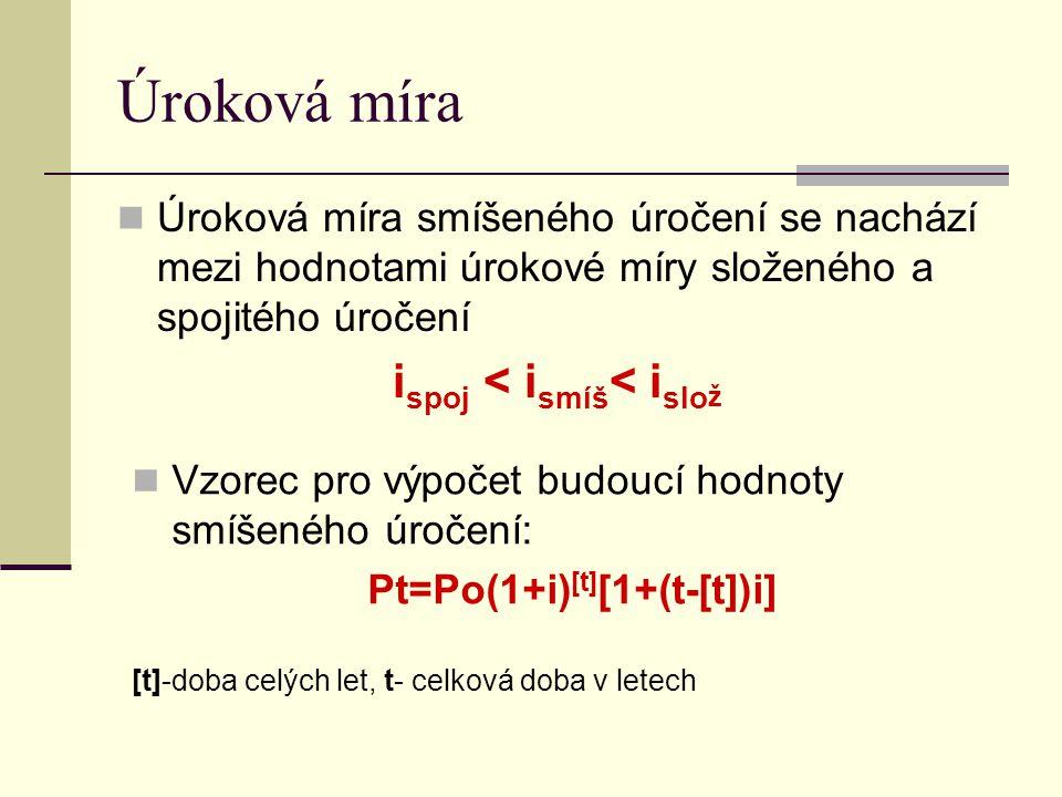 ispoj < ismíš< islož Pt=Po(1+i)[t][1+(t-[t])i]